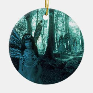 Fairy Glade Round Ceramic Decoration