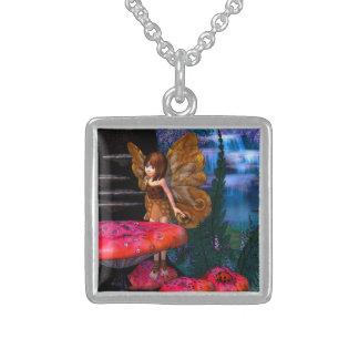 Fairy Glen Square Pendant Necklace