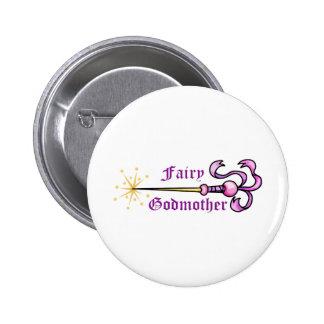 FAIRY GODMOTHER 6 CM ROUND BADGE