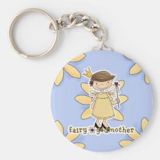 Fairy Godmother Basic Round Button Key Ring