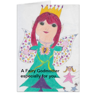 Fairy Godmother Birthday Wishes Note Card