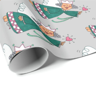 Fairy Godmother Cute Whimsical Girl Wrapping Paper