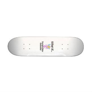 Fairy godmother custom skate board
