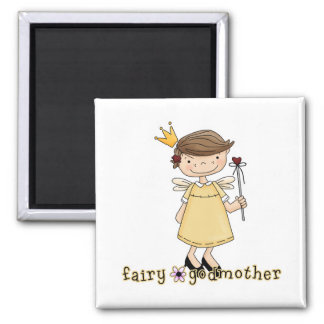 Fairy Godmother Square Magnet