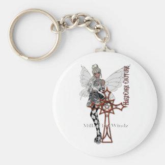 fairy goth Celtic cross Keychain