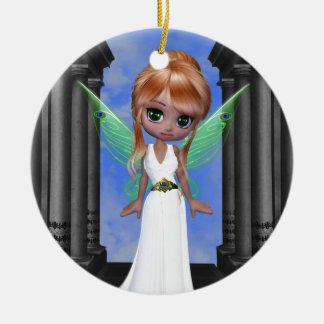"Fairy ""Hera"" Greek Goddess Round Ceramic Decoration"