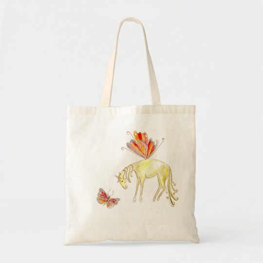 Fairy Horse with a butterfly Tote Bag