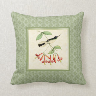 Fairy Hummingbird Damask Pillow
