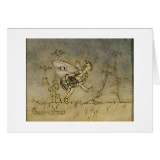 Fairy, illustration from 'A Midsummer Night's Drea Greeting Card