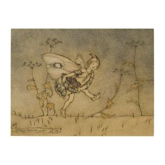 Fairy, illustration from 'A Midsummer Night's Drea Wood Wall Art