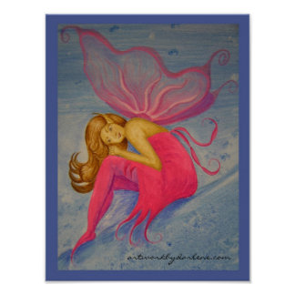 Fairy in a Pink Dress Posters