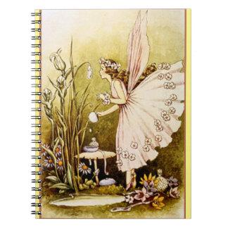 Fairy In Flowering Homestead Binder Notebook