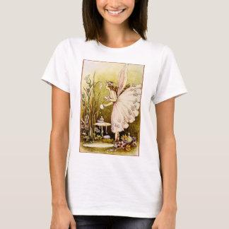 Fairy In Her Flowering Homestead Ladies T-Shirt