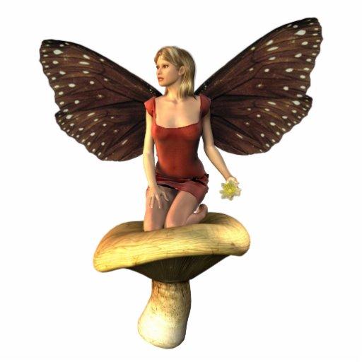 Fairy in mushroom photo cut out