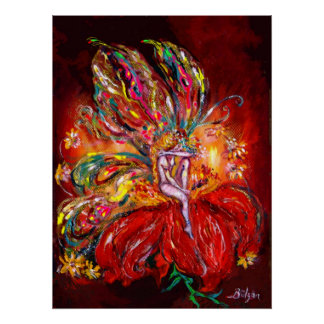 FAIRY IN RED POSTER