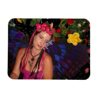 Fairy In The Garden Rectangular Photo Magnet