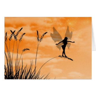 Fairy in the grass card
