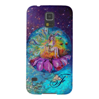 FAIRY IN THE NIGHT   Blue Teal Monogram Galaxy S5 Cases