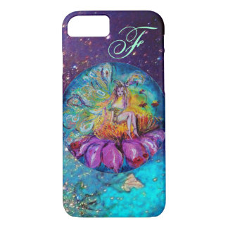 FAIRY IN THE NIGHT   Blue Teal Monogram iPhone 7 Case