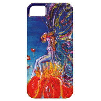 FAIRY IN THE NIGHT SITTING ON RED FLOWER Monogram iPhone 5 Cases