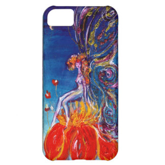 FAIRY IN THE NIGHT SITTING ON RED FLOWER Monogram iPhone 5C Case