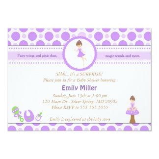 Fairy Invitation Baby Girl Shower Purple Pixie