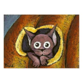 Fairy kitten in a pumpkin business card