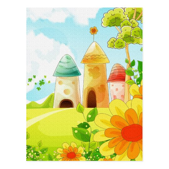 fairy land postcard