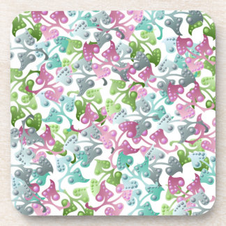 Fairy Leaf Pattern Cork Coaster