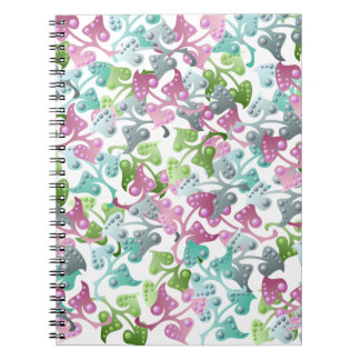 Fairy Leaf Pattern Spiral Notebook