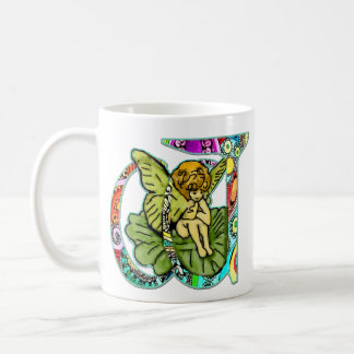 Fairy Letter W with personalized name Coffee Mug