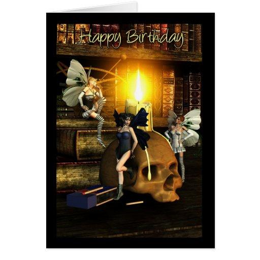fairy light - fairy birthday greeting card