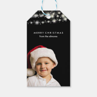 Fairy Lights and your Photo Personalized Gift Tags