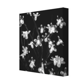 Fairy Lights, Blacks & Whites Stretched Canvas Print