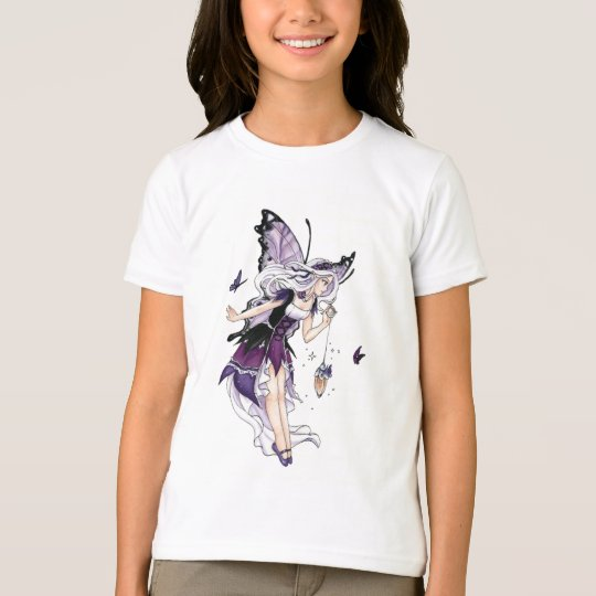 Fairy Lights Purple Gothic Girls Ringer T-Shirt