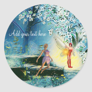 Fairy lit sisters stickers