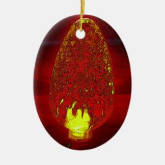 Fairy lite ceramic oval decoration