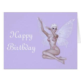 Fairy magic faerie sexy happy birthday big greeting card