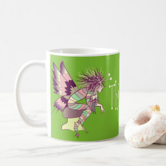 Fairy Male Cartoon Nostalgic Thinking of You Green Coffee Mug