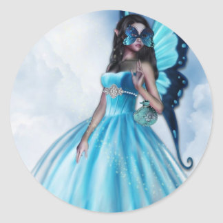 Fairy Masquerade Ball Classic Round Sticker