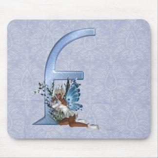 Fairy Monogram F Mouse Mat