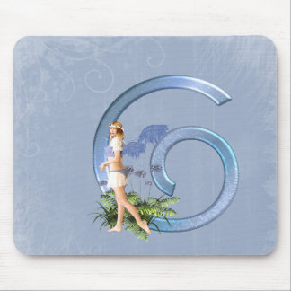 Fairy Monogram G Mouse Pad