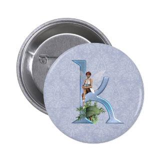 Fairy Monogram K 6 Cm Round Badge