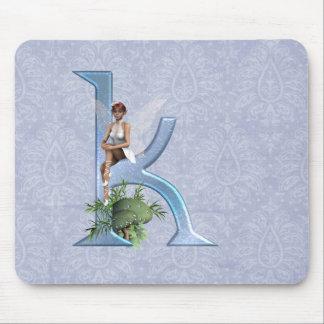 Fairy Monogram K Mouse Pads