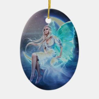 fairy moon ceramic oval decoration