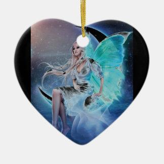 fairy moon christmas ornament