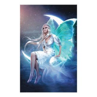 fairy moon stationery design