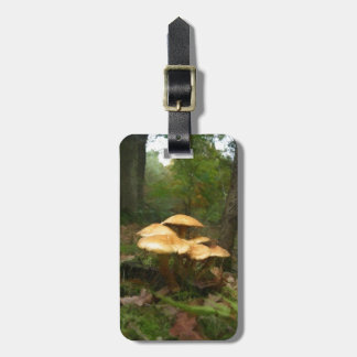 Fairy Mushroom Ring Luggage Tag