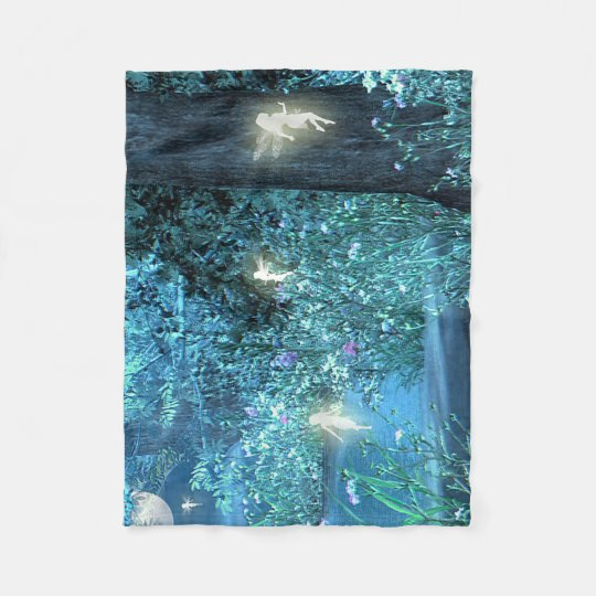 Fairy night Fleece Blanket