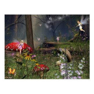 fairy night postcard